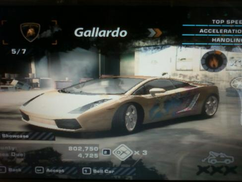My Need for Speed: Most Wanted Cars